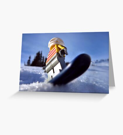 Hold on to your booty (pirate snowboarding) Greeting Card