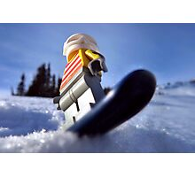 Hold on to your booty (pirate snowboarding) Photographic Print