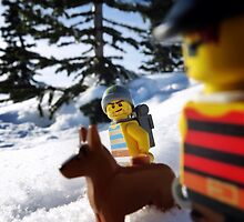 Snowshoeing  by bricksailboat