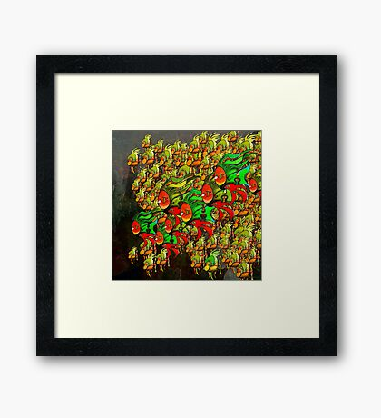 In The Tank - Divaswinicus and a Group of Passing Divaskimmers Framed Print