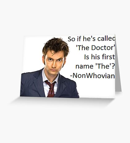 Non-Whovian Question Greeting Card