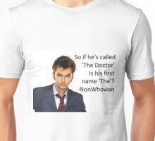 Non-Whovian Question Unisex T-Shirt