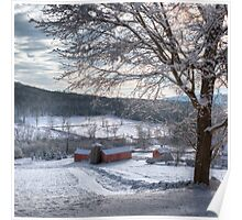 New England Winter Farms  Poster