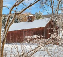 Vintage New England Barn  by Bill Wakeley