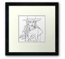 continuous line drawing Framed Print