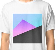 Simple Minimal Blue, Purple, & Black Geometric Classic T-Shirt