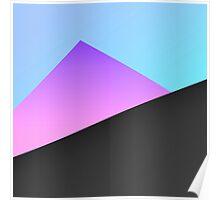Simple Minimal Blue, Purple, & Black Geometric Poster