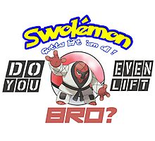 Pokemon - Do You Even Lift Bro? Photographic Print