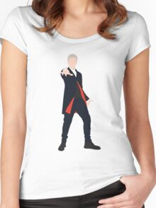 12th Doctor Peter Capaldi Women's Fitted Scoop T-Shirt