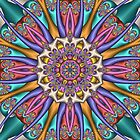 Decorative Kaleidoscope flower, fractal artwork by walstraasart