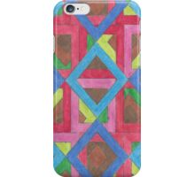 Multicolored Open Squares iPhone Case/Skin