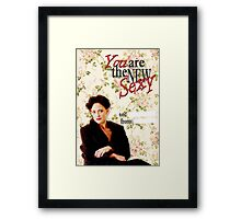 Irene Adler Valentine's Day Card - The New Sexy Floral Framed Print