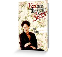 Irene Adler Valentine's Day Card - The New Sexy Floral Greeting Card