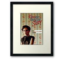 Irene Adler Valentine's Day Card - The New Sexy II Framed Print