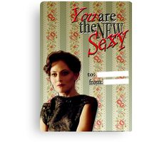 Irene Adler Valentine's Day Card - The New Sexy II Canvas Print