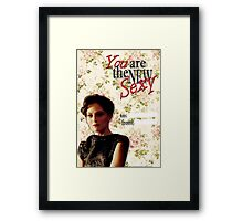 Irene Adler Valentine's Day Card - The New Sexy Floral II Framed Print