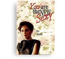 Irene Adler Valentine's Day Card - The New Sexy Floral II Canvas Print