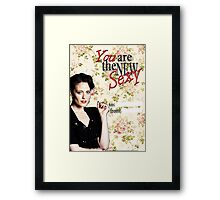 Irene Adler Valentine's Day Card - The New Sexy Floral III Framed Print