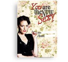 Irene Adler Valentine's Day Card - The New Sexy Floral III Canvas Print