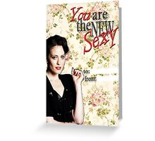 Irene Adler Valentine's Day Card - The New Sexy Floral III Greeting Card