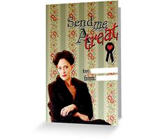 Irene Adler Valentine's Day Card - Send Me A Treat Greeting Card