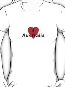 I Love Australia - T-Shirt & Sticker T-Shirt