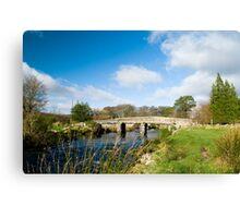 Postbridge Clapper Bridge Canvas Print