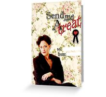 Irene Adler Valentine's Day Card - Send Me A Treat Floral Greeting Card