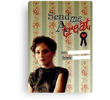 Irene Adler Valentine's Day Card - Send Me A Treat II Canvas Print