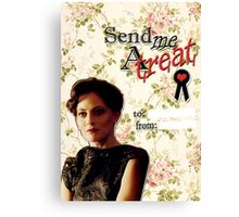 Irene Adler Valentine's Day Card - Send Me A Treat Floral II Canvas Print