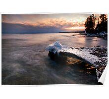 Under Glow, Lake Superior Poster