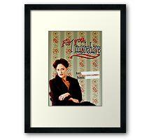 Irene Adler Valentine's Day Card - Misbehave Framed Print