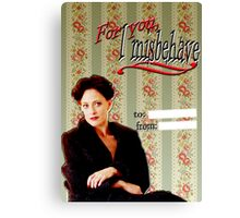 Irene Adler Valentine's Day Card - Misbehave Canvas Print