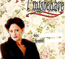 Irene Adler Valentine's Day Card - Misbehave Floral by thescudders