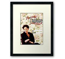 Irene Adler Valentine's Day Card - Misbehave Floral Framed Print