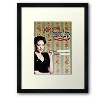 Irene Adler Valentine's Day Card - Misbehave II Framed Print