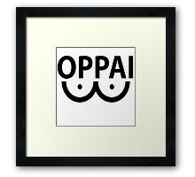 One Punch Man (OPM) - Saitama - Oppai  Framed Print