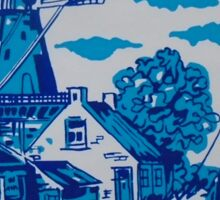 Delft tile print Sticker