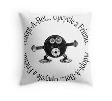 Upcycle a Friend... Adopt-A-Bot Throw Pillow