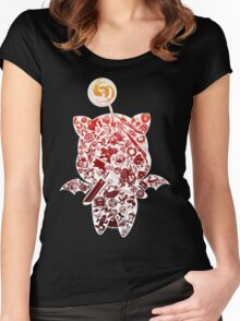 Final Fantasy Moogle-verse (red) Women's Fitted Scoop T-Shirt