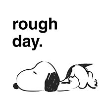rough day. - snoopy by MCellucci