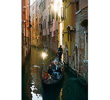 Gondola Light Streaks Photographic Print