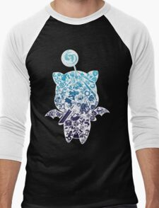 Final Fantasy Moogle-verse (blue) Men's Baseball ¾ T-Shirt