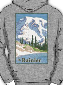 Vintage Mount Rainier Travel Poster T-Shirt