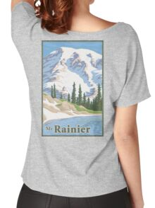 Vintage Mount Rainier Travel Poster Women's Relaxed Fit T-Shirt