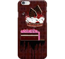 chocolate cherry pie iPhone Case/Skin