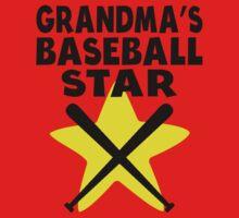 Grandma's Baseball Star One Piece - Short Sleeve