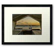 Barbados Fishing Boats Framed Print