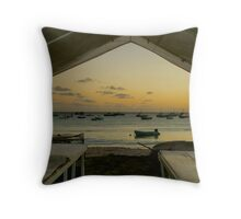 Barbados Fishing Boats Throw Pillow
