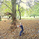 Fun in the leaves. by Livvy Young